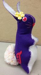 Felt Retro Design Easter Rabbit in Purple