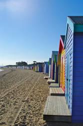 Brighton Bathing Boxes by s-j-fenwick