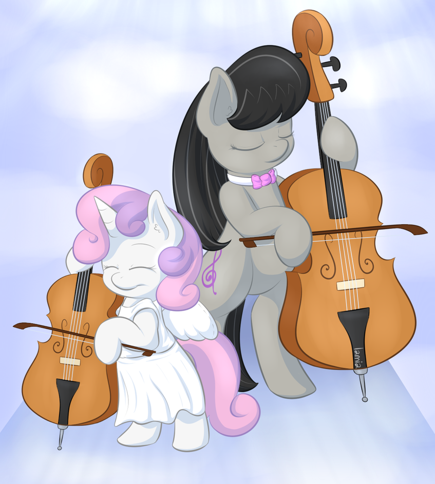 Sweet Cello Duo by Lamiaaaa