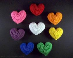 Crochet Hearts by BritneyPringle
