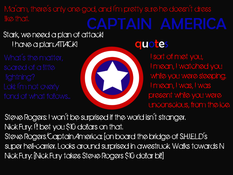 Captain America By Great Quotes Quotesgram