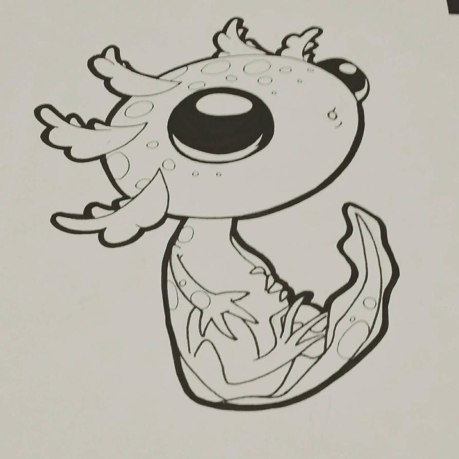 - Tattoo Sketch: Axocutel - by Cyberbirdy