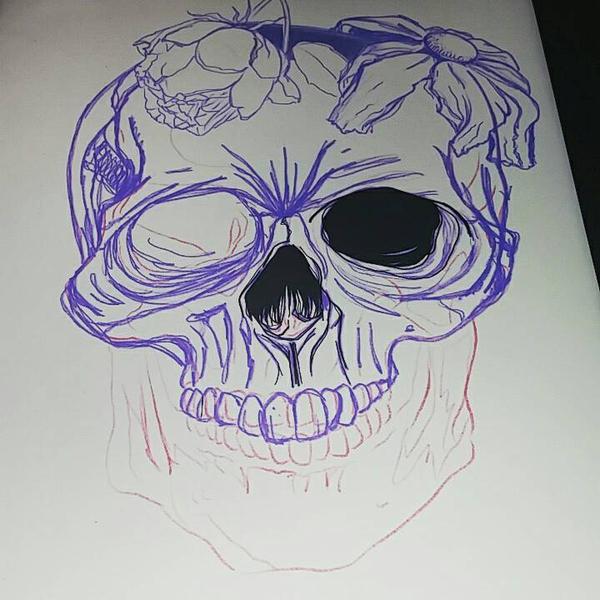 WIP: Skull  by Cyberbirdy