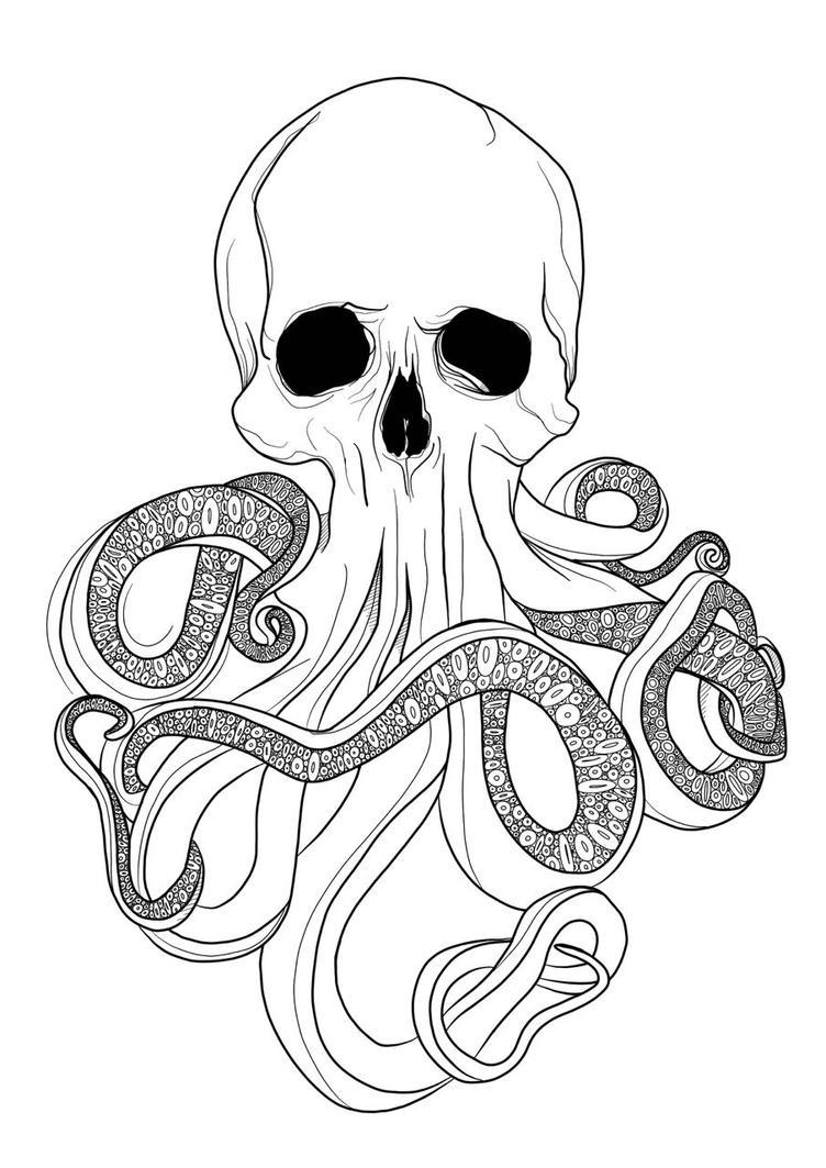 WIP Cthulu Skull by Cyberbirdy
