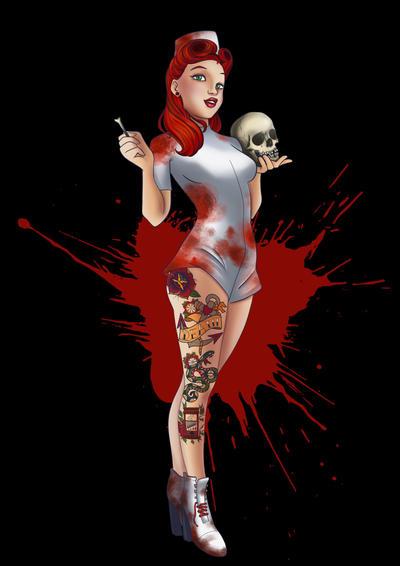 ~ Nurse Pin Up ~ by Cyberbirdy