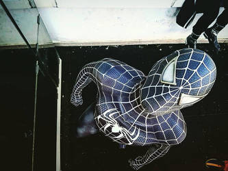 BLACK SPIDERMAN COSPLAY RAIMI