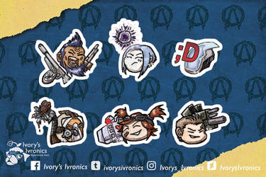 BL2 - Playable characters chibi head collection by IvorysIvronics