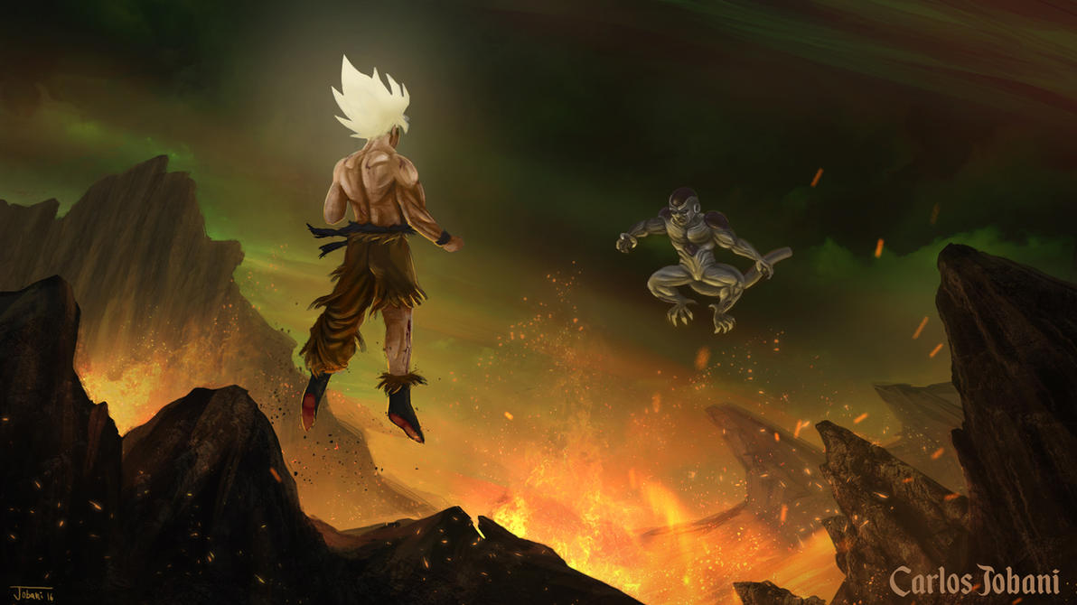 Dragon ball goku vs frieza by rikud0k0 on deviantart for Dragon ball z mural