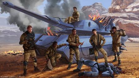 Destroyed Tank by Rikud0k0