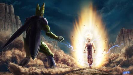 Dragon Ball Z Son Gohan vs Cell by Rikud0k0