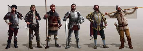 Medieval Soldiers by Rikud0k0