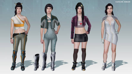 Cyber Punk Clothes 2 by Rikud0k0