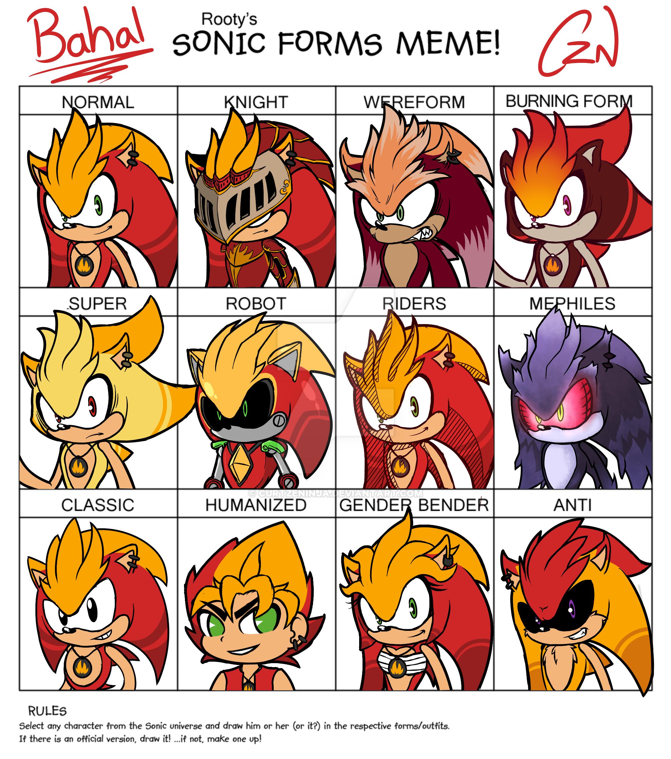 Sonic Forms: Sonic Form Meme By CurtZeNinja On DeviantArt
