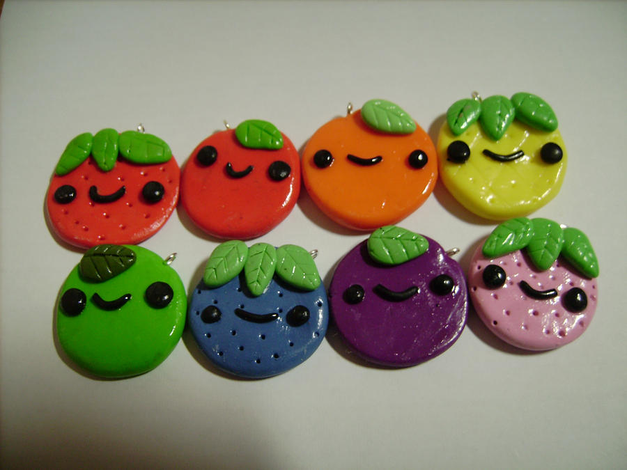 Cute Clay Designs Cute Polymer Clay Fruit
