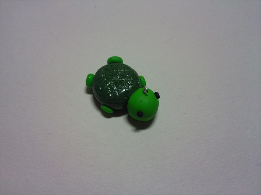 Cute polymer clay turtle charm by alicecharms on deviantart