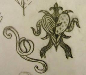 Design doodles by Writer72