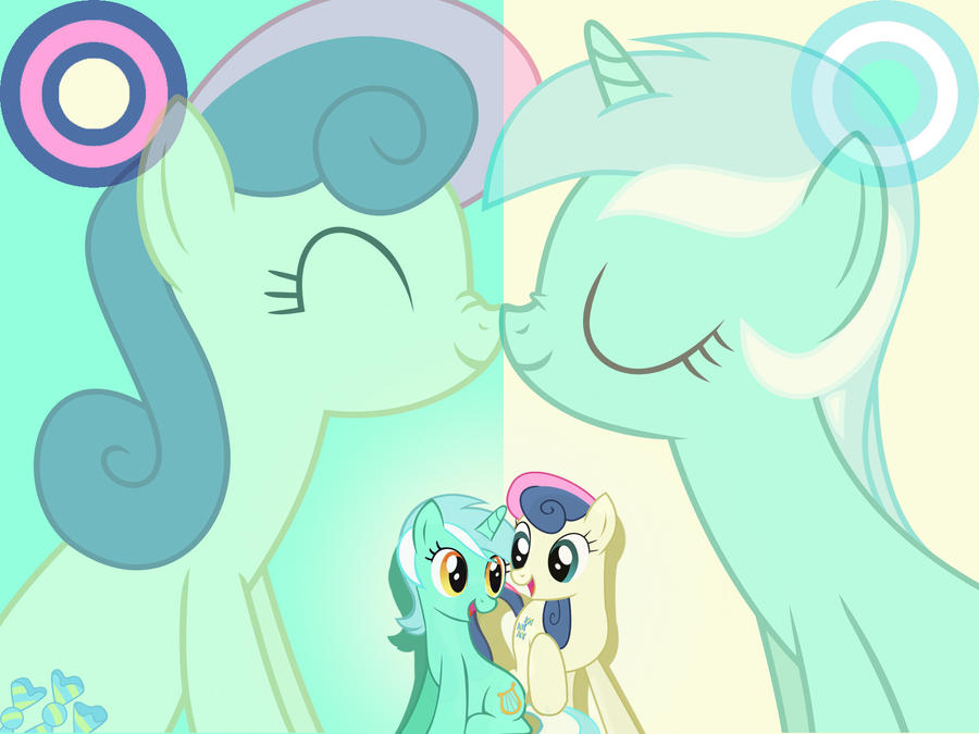 Lyra and Bonbon are in Love by 30ColoredOwl