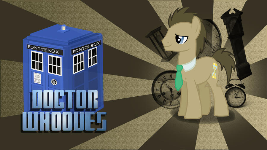 Doctor Whooves Wallpaper by 30ColoredOwl
