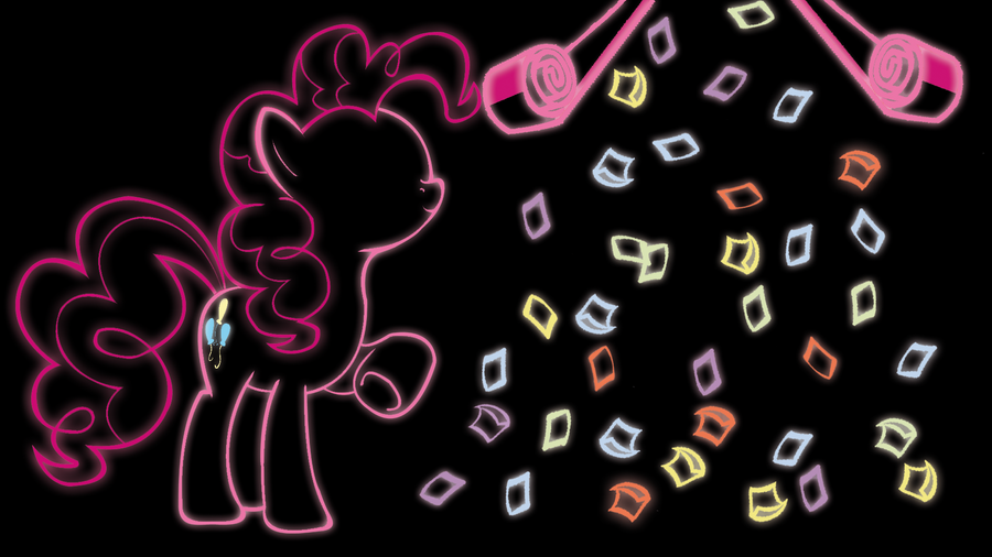 Pinkie Pie Glow Wallpaper by 30ColoredOwl