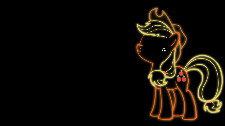 Applejack Glow Wallpaper by 30ColoredOwl