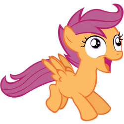 Happy/Derp Scootaloo Vector by 30ColoredOwl