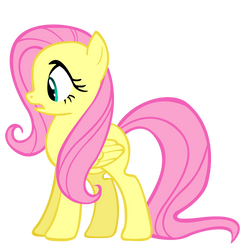 Scared Fluttershy Vector by 30ColoredOwl