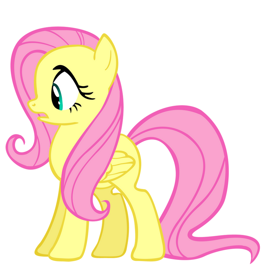 Scared Fluttershy Vector by 30ColoredOwl on DeviantArt