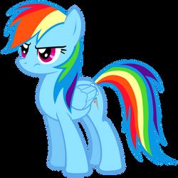 Grumpy Rainbow Dash Vector by 30ColoredOwl