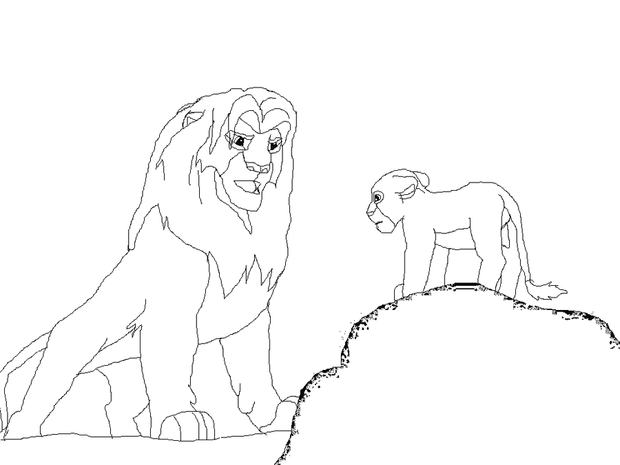 Kovu And Kiara Lion King Family Coloring Pages Coloring Pages