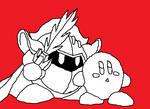 Kirby and Meta Knight base