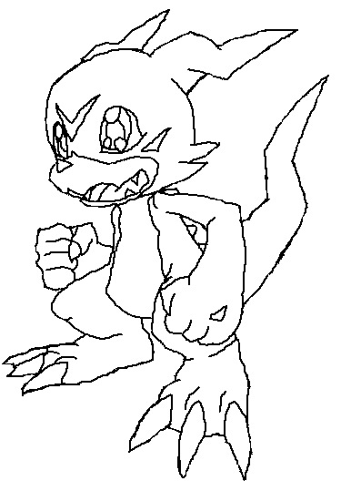 new digimon coloring pages - photo#50