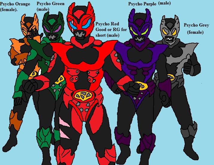 My Psycho Rangers Ocs group by Natalia-Clark