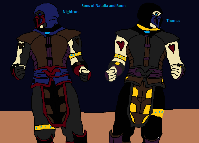 Nightron and Thomas sons of Natalia by Natalia-Clark