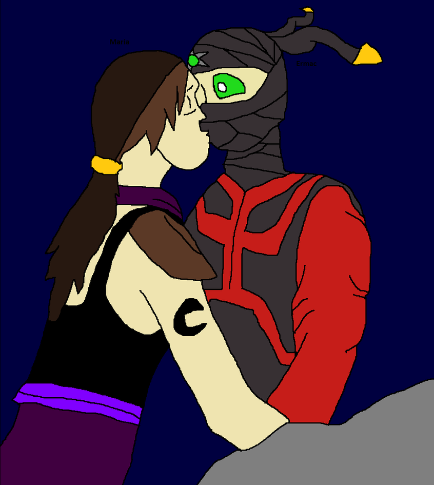 Maria x Ermac surprise kiss love me like you do by Natalia-Clark