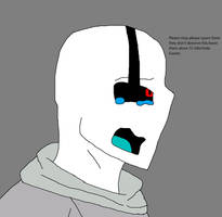 Glitchtale Gaster Please spare them