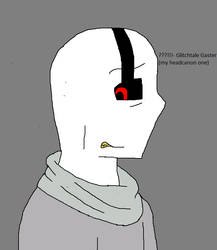 Glitchtale Gaster looking down