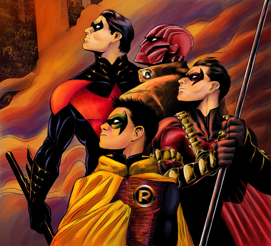The Four Robins by Crown-Wolf