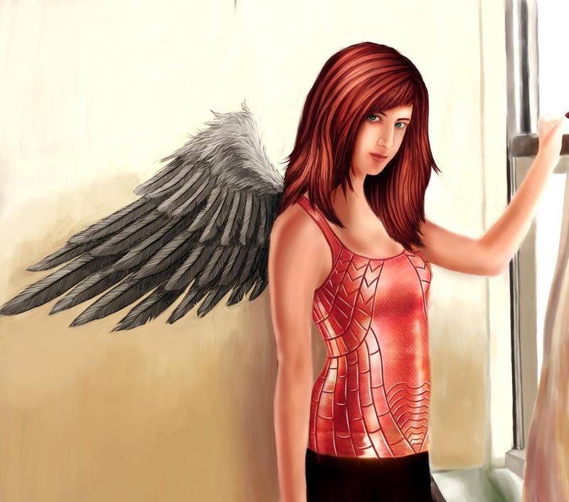 Scarlet Angel by Crown-Wolf