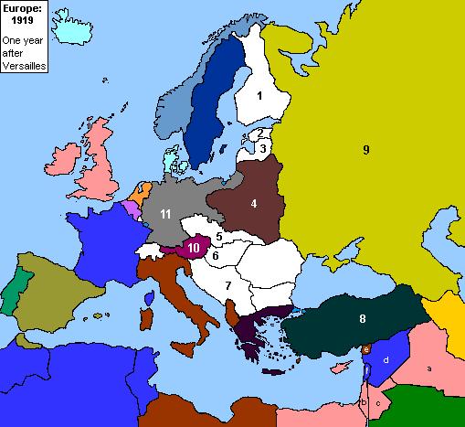 Europe By FederalRepublic On DeviantArt - Europe map 1919