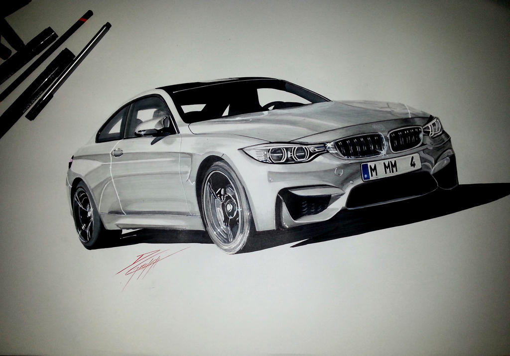 Bmw M4 Drawing By Dom G92 On Deviantart