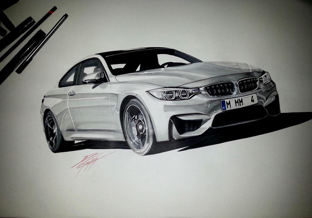 Bmw M4 Drawing By Dom G92 On Deviantart