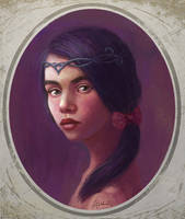 Portrait painting:Old times by eyreart