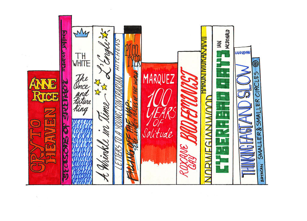 My Ideal Bookshelf by bunnyluz