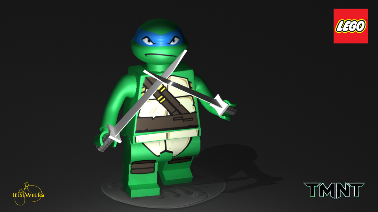 Leonardo  Tortuga ninja  Cubeecraft 3D Render by shadil on