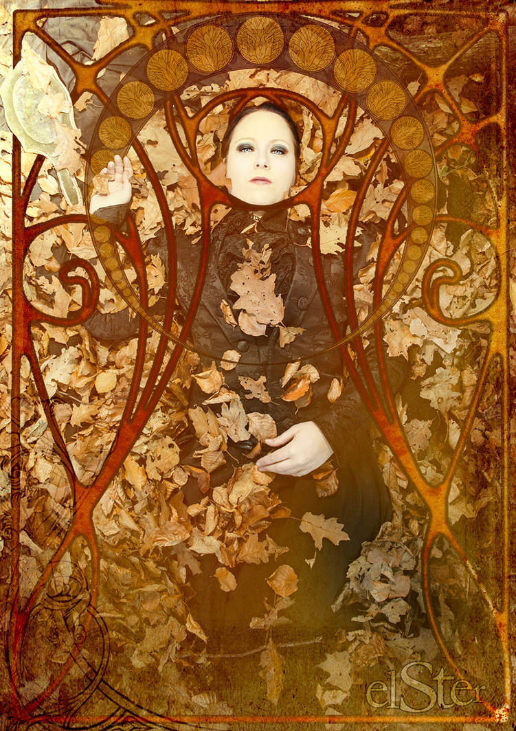 autumn art noveau by DieElster