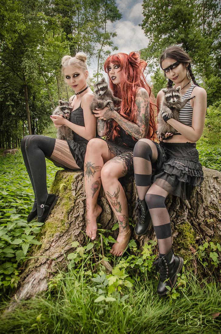 Racoon Girls Group by DieElster