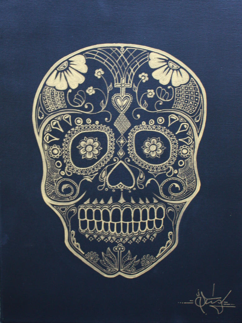 Day of the Dead Skull I by STiX2000