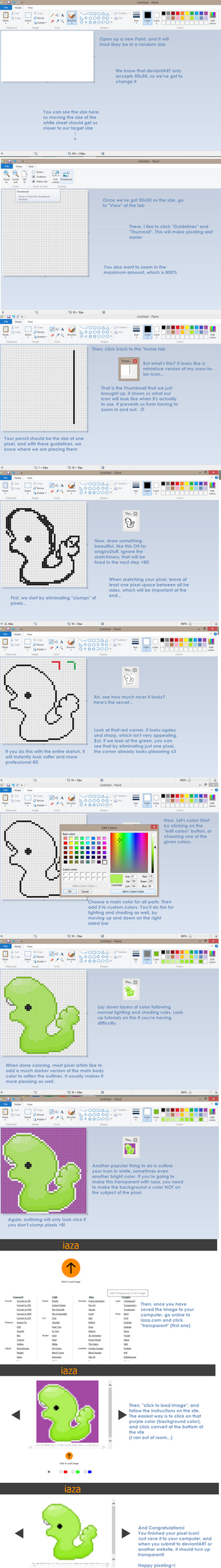 Totally Professional Icon Tutorial by gnarsly