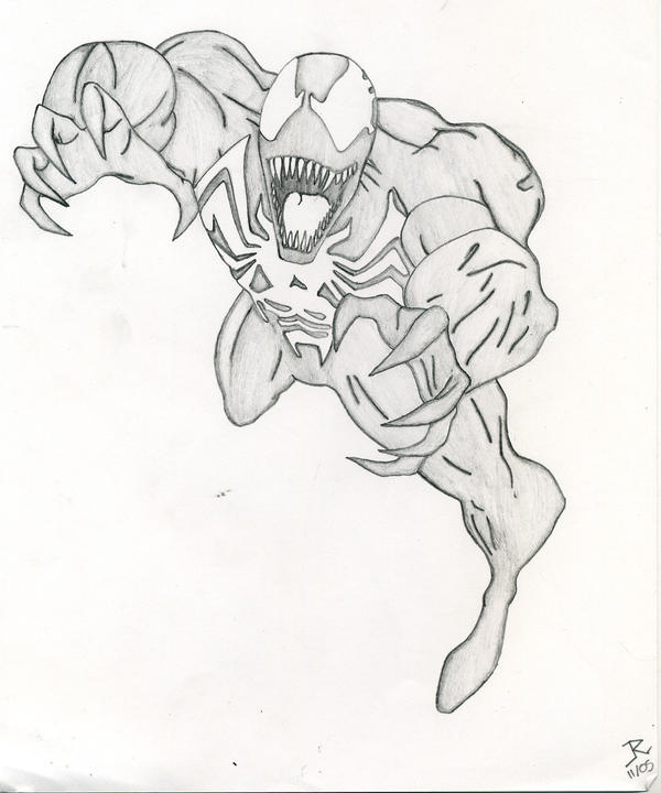 Spiderman Face Line Drawing : Venom drawing by panthersghost on deviantart