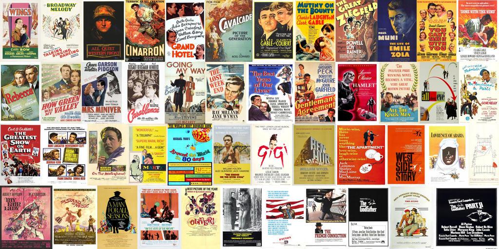 Best Picture Oscar Winners 1928-1974 by EspioArtwork on ...